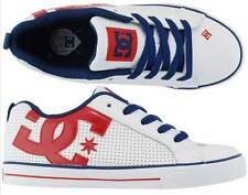 KIDS DC SHOES YOUTH COURT GRAFFIK RHB RED BLUE WHITE childs boys skate trainers