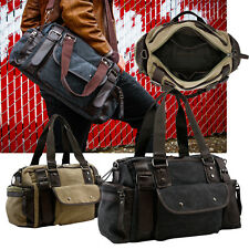 Vintage Large Canvas Men's Travel Luggage Shoulder Bag Tote Gym Overnight Duffle