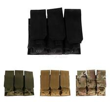 Tactical Triple Magazine Utility Pouch Hunting Open Top Molle Pouch Clip Bag