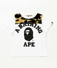 A BATHING APE 1ST CAMO COLLEGE TEE BAPE Kids Original Printed T-shirt From Japan