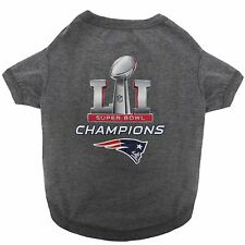 New England Patriots SUPER BOWL CHAMPIONS Dog Shirt Limited NFL Football License