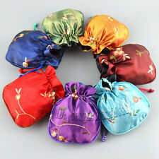 Wholesale lot Chinese Vintage Embroidered Silk jewelry Pouch/Coin Purse Gift Bag