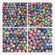 Wholesale 6/8/10/12mm Mixed Fimo Polymer Clay Round Ball Spacer Loose Beads