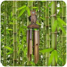 Wind Chime Sound Play Bamboo Sound Decor Sound Pipes Relaxation Door Bell Owl