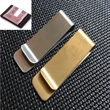 Metal Clamp Gold Color Credit Card ID Clips Cash Clamp Money Clip Wallet