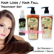 3pcs HAIR LOSS Treatment Shampoo Serum Long Hair Growth Enhance Herbal Ginger
