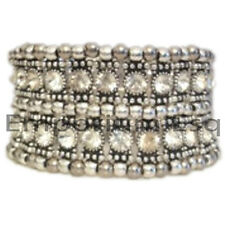 LADIES LOVELY NEW DIAMONTE PURPLE CRYSTAL CUFF BRACELET BLING PARTY XMAS PRESENT