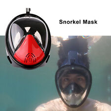 Face Mask Underwater Diving Swimming With Camera Anti Fog Dry Snorkel Breathable