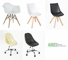 Plastic Modern Lounge Chair Furniture Retro Dining Office Desk Chairs Armchair