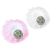1x Bouquet Handle Holder + White Lace Collar for Bridal Floral Wedding Flower