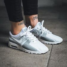 Nike Wmns Womens Air Max Zero SI White Grey Running Shoes Sneakers 881173-100