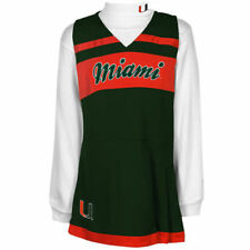 Miami Hurricanes Girls Youth Cheer Jumper Dress and Turtleneck Set - NCAA
