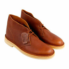 Clarks Desert Boot Mens Tan Leather Casual Dress Lace Up Boots Shoes