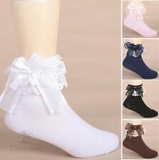 Baby Girls Cotton Socks Lace Bow Solid Socks Children Summer Kids Tights 2-10Y