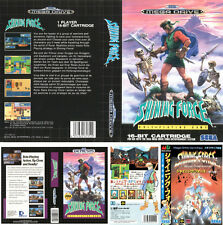 Shining Force 1 UK EU JP Sega Megadrive Replacement Box Art Sleeves Insert Case