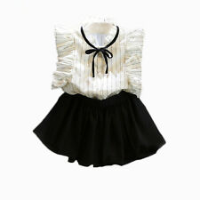 2pcs Toddler Infant Girls Outfits shirt tops+ Short skirts Summer Clothes Set