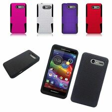 TPU Rubber Hard PC Candy Skin Mesh Case Cover For Motorola Droid XT901