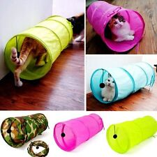 Camouflage Crackle Chute Pet Cat Dog Tunnel 4 Colors Cat Tunnel Toys With Ball