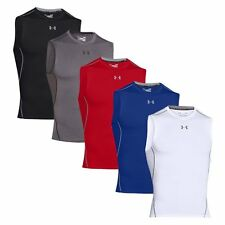 Under Armour HeatGear Mens Armour Compression Sleeveless Top