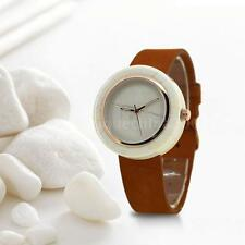 Bewell Men Women Creative Marble Quartz Analog Lover's Watch Leather Band O2F2