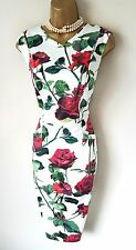 Phase Eight Dress 12 14 16 18 Asha Rose Stretch Cotton Floral Wiggle Dress