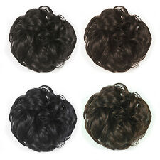 SUP Wavy Curly Pony Tail Hair Bun Clip in Scrunchie Hair Extension Hairpiece