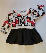"Disney Baby Girl Toddler Minnie Mouse 2pc ""Cheerleader"" Dress Clothes-NWT"