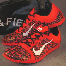 Men's Nike Zoom SPIKELESS Waffle Running Track Shoes Size 11 Crimson Red w/ Bag