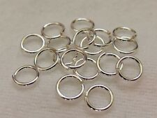 Silver Filled Open Jump Rings (AWG 20, approx 0.8mm wire). Pack of 100