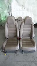 VOLKSWAGEN VW GOLF MK5 MKV R32 LEATHER FRONT AND REAR SEATS TAN READ COMMENTS
