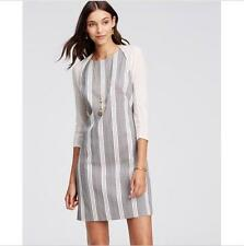 NWT Ann Taylor Vertical Geometric Striped Sleeveless Shift Dress $129.00