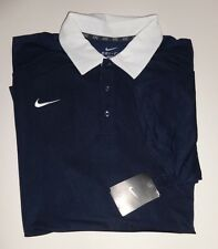 NEW MENS NIKE DRI-FIT NAVY  SOLID POLO SHORT SLEEVE GOLF SHIRT XX-LARGE