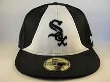 MLB Chicago White Sox New Era 59FIFTY Fitted Hat Cap Black White