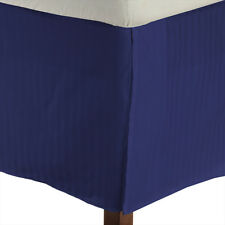 1 QTY Bed Skirt Valance Egyptian Cotton 1000 TC 1 Inch Drop Egyptian Blue Stripe