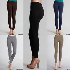 NIKIBIKI Ankle Length Seamless Soft, Stretchy Leggings | Made in USA | One Size