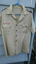 BSA BOY SCOUTS OF AMERICA BOY SCOUTS UNIFORM S/s SHIRT SZ ADULT M   SEWN