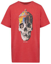 Boys Animal Skull Graphic T-Shirt/Top/Clothes - Halloween - Red