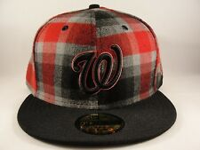 MLB Washington Nationals New Era 59FIFTY Fitted Hat Cap Tallic Plaid