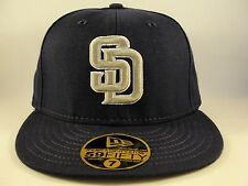 MLB San Diego Padres New Era 59FIFTY Fitted Hat Cap Navy