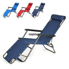 New Outdoor Lounge Chair Zero Gravity Folding Recliner Patio Pool Lounger RLWH