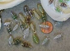 """25 Tiny Genuine Caribbean Sea Glass """"Beach Charms""""- 8mm to 12mm/ Assorted colors"""