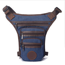 Men's Waist Drop Leg Bag Canvas Motorcycle Outdoor Sport Gym Belt Fanny Pack New