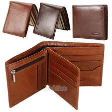 Genuine Leather Mens Wallet ZIPPER Coin Purse Vintage Retro Style 2017 New