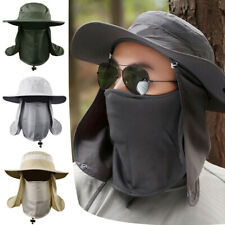 New Hiking Fishing Hat Outdoor Sport Sun Protection Neck Face Flap Cap Huge Brim