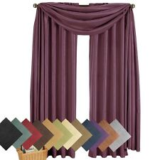 3PC Soho Faux Silk Elegant Window treatments, 2-Panels & Matching 1-Scarf Set