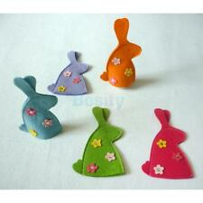 4pcs Rabbit Easter Egg Covers Holder Wrap Holiday Ornament Kid Present