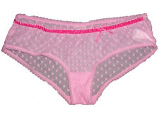 """NEW 3. Suisses HEART SEE THROUGH SHEER LACE SEXY BOYSHORT PANTY M/L (26""""-30"""")"""