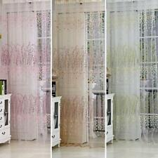 Plum Blossom Wintersweet Sheer Curtain Balcony Tulle Divider Window Panel