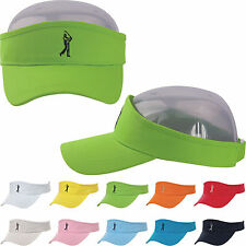 Visor Sun Plain Hat Sports Cap Color Golf Embroidery Tennis Beach Adjustable Men