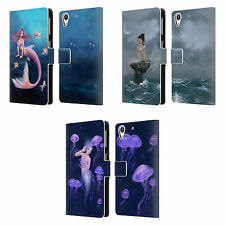 OFFICIAL RACHEL ANDERSON MERMAIDS LEATHER BOOK WALLET CASE FOR HTC PHONES 2